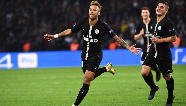 22584e9fc8d Brazil superstar Neymar hit a hat-trick as Paris Saint-Germain earned an  emphatic 6-1 win against Red Star Belgrade in the Champions League.