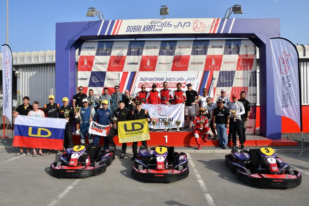 Dubai Kartdrome Endurance Championship RD3 Winners Podium