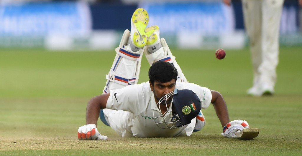 Ashwin sustained a hip injury in the third Test at Trent Bridge.