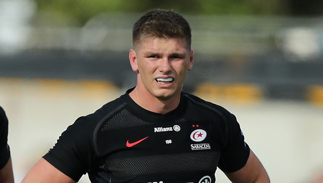 Saracens will be looking to star fly-half Owen Farrell for inspiration.