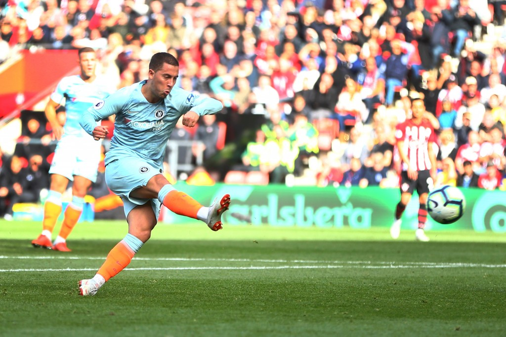 Eden Hazard opened the scoring for Chelsea against Southampton