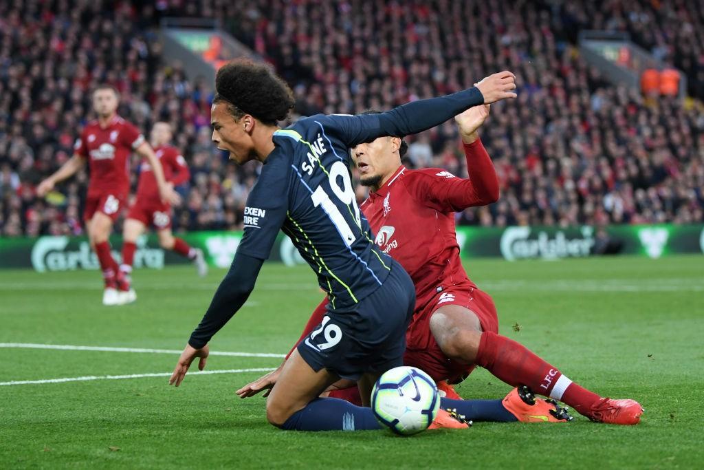 Virgil van Dijk gives away the penalty