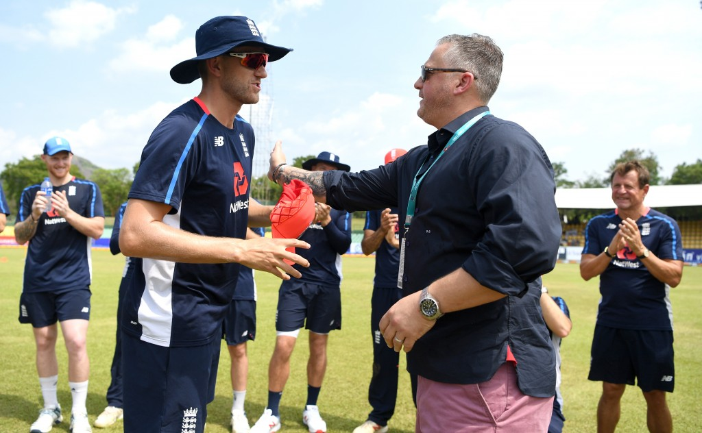 Olly Stone was handed his maiden England cap by Darren Gough.