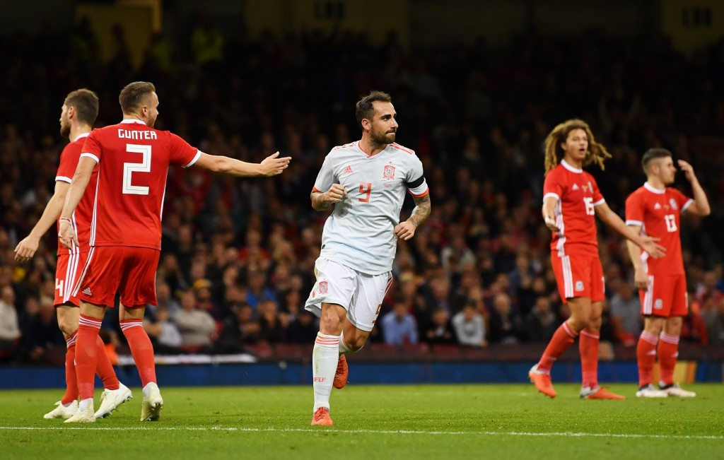 Alcacer bagged two goals against Wales on Thursday.