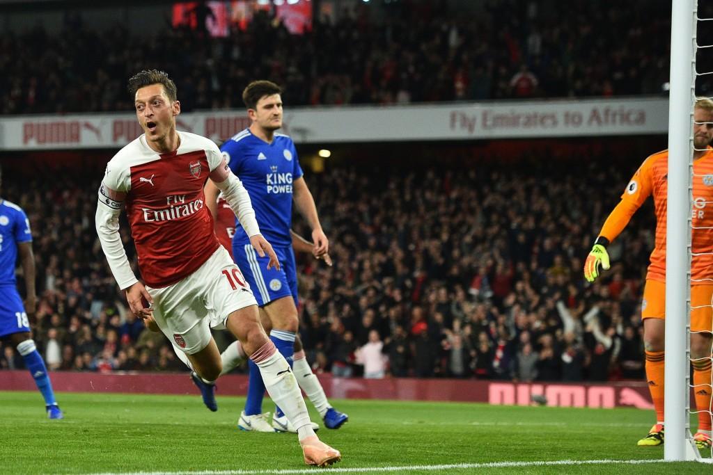 A captain's display: Mesut Ozil.