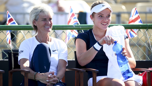 Judy Murray and Katie Swan.