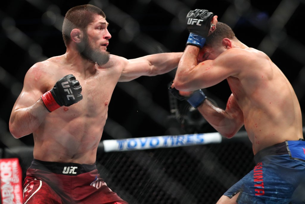 Khabib in action against Al Iaquinta last time out