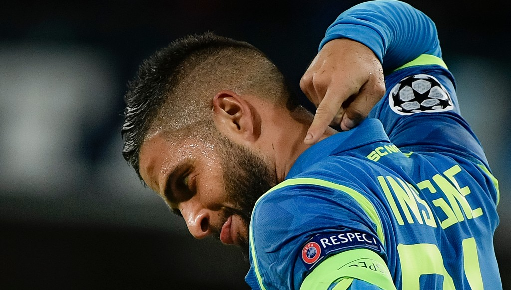 A captain's goal: Lorenzo Insigne scored a deserved winner for Napoli.