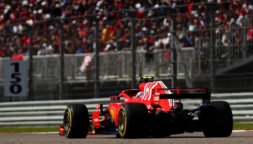 Kimi Raikkonen drove his Ferrari to victory in Texas last month.