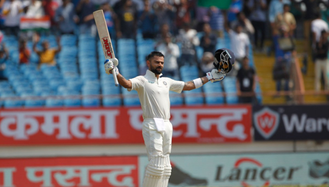 Kohli registered his 24th Test ton. Image - BCCI/Twitter.