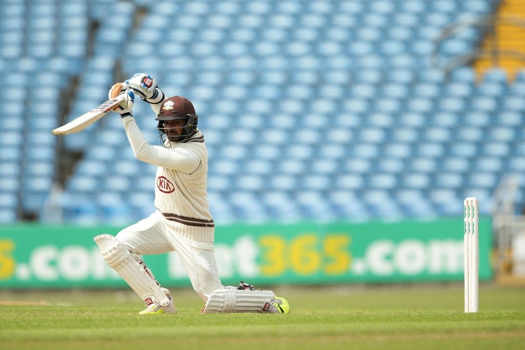 Kumar Sangakkara in action for Surrey in 2016