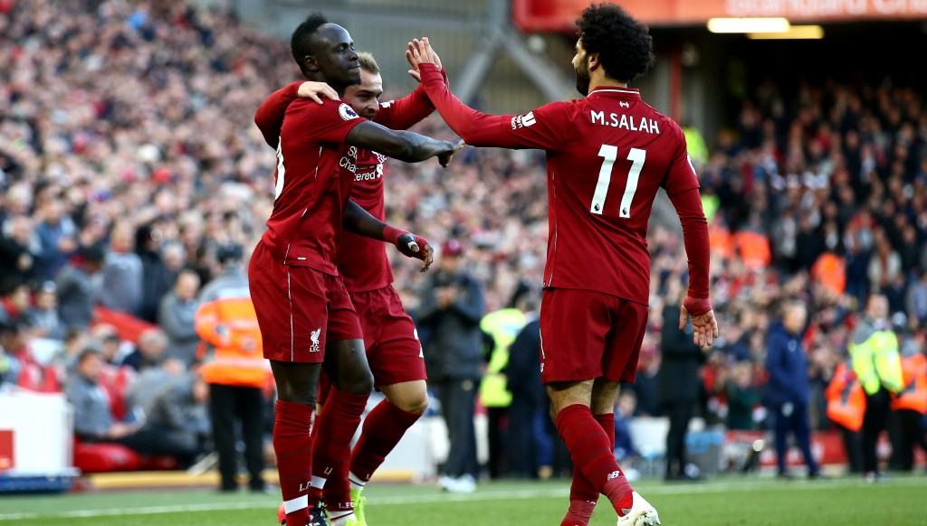 Sadio Mane, Mohamed Salah and Xherdan Shaqiri were all on target in a 4-1 Liverpool win.