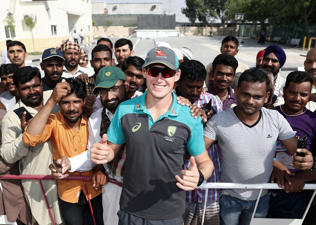 Marnus Labuschagne making new friends in Dubai