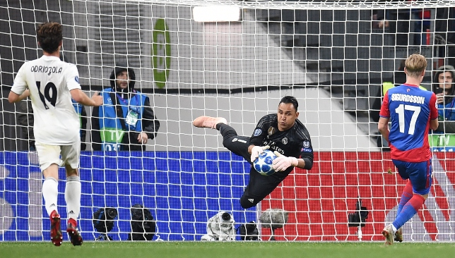 Keylor Navas could do nothing to stop Nikola Vlasic's opener.