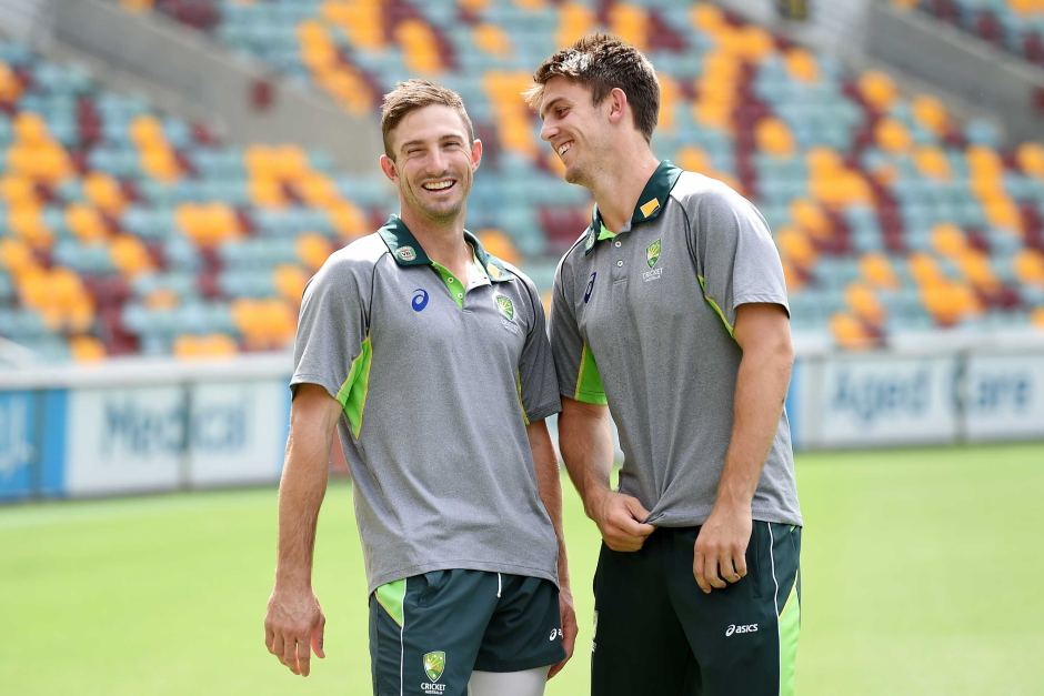 Older brother Shaun (l) and Mitchell Marsh