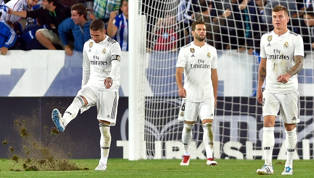 Dejected: Real Madrid failed to score again.