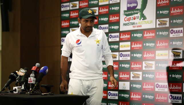 Sarfraz Ahmed after the Dubai Test.