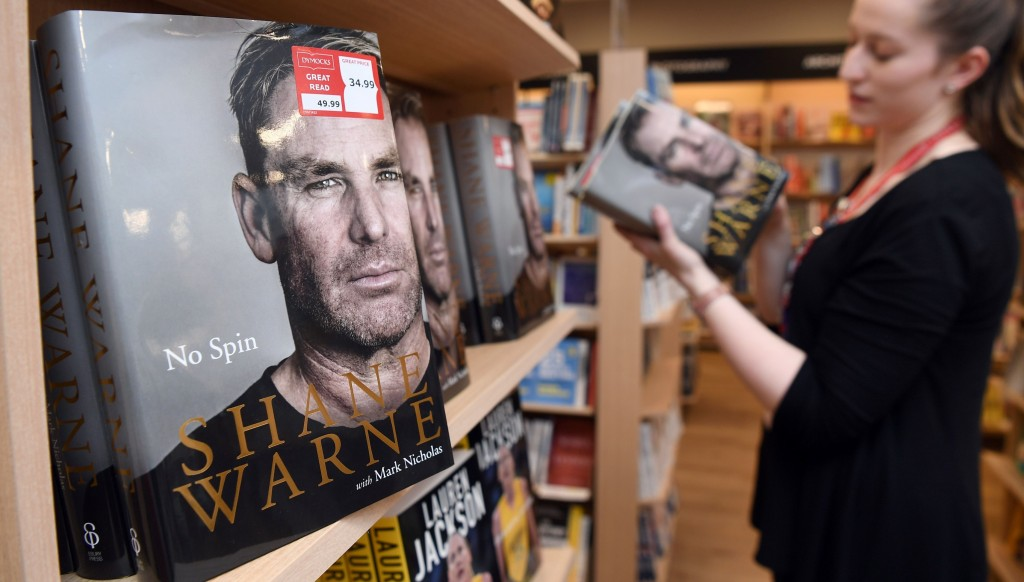 Shane Warne's biography No Spin has hit the shelves