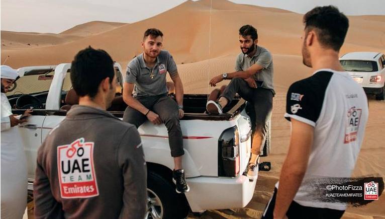 UAE Team Emirates desert
