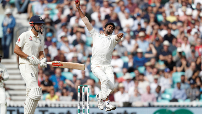 Bumrah employs an unorthodox bowling action.