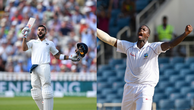 A battle of two skippers: Virat Kohli (l) and Jason Holder.