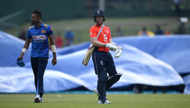 Rain took its toll on the first ODI between Sri Lanka and England.