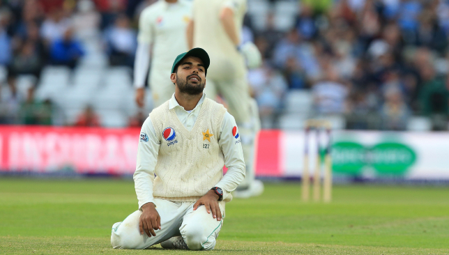 Shadab Khan is unlikely to be fit for the first Test in Dubai.