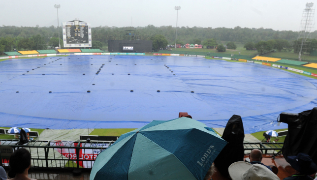 Rain has played spoilsport in the first ODI between the two sides.