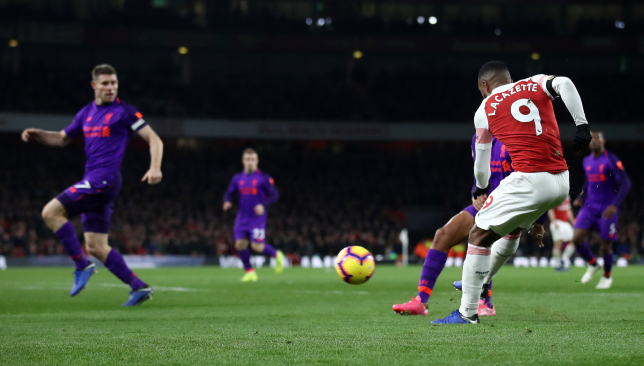 Alexandre Lacazette scored a stylish late equaliser for the Gunners.