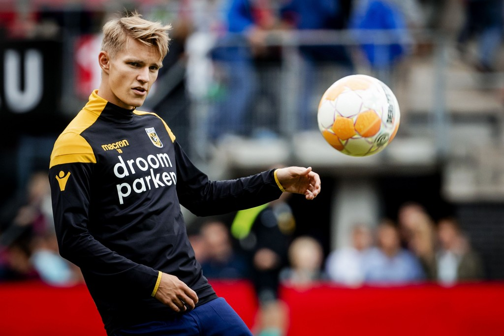 Odegaard joined Vitesse on loan in the summer.