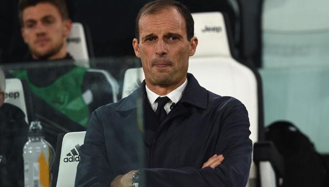 Focused: Massimiliano Allegri.
