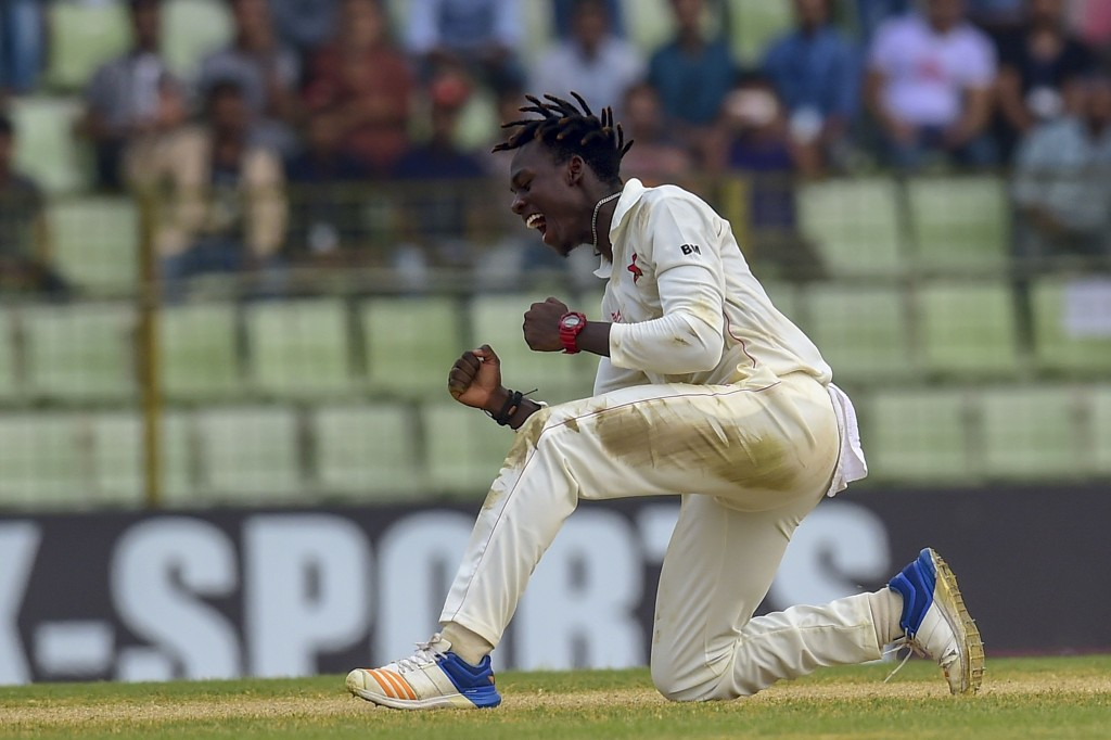 Debutant Mavuta picked up four wickets in the second innings.