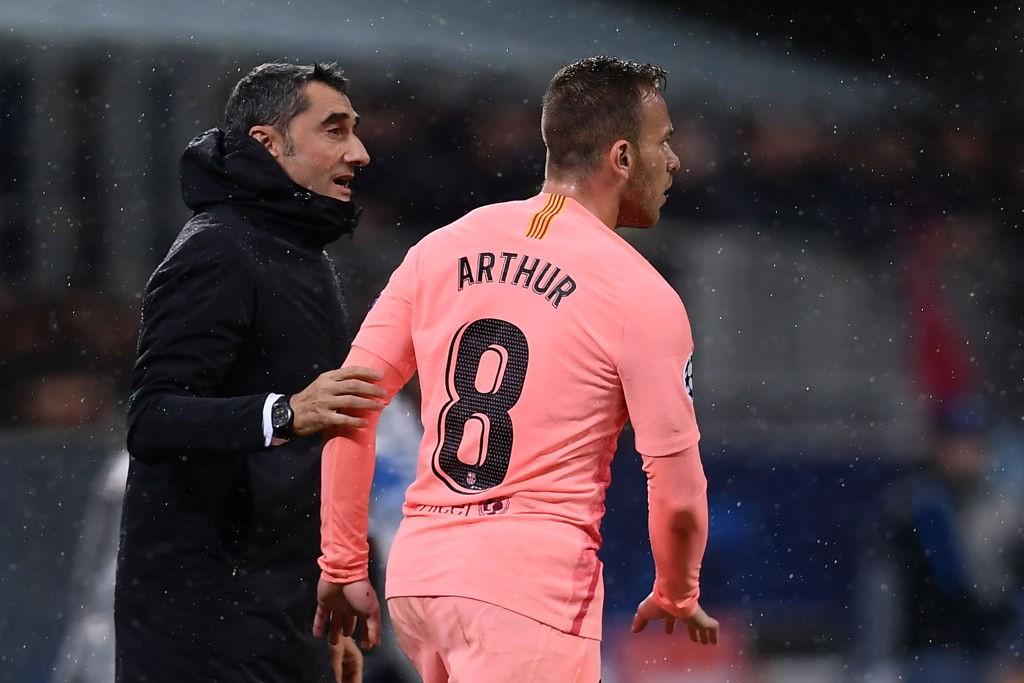 Ernesto Valverde and Arthur