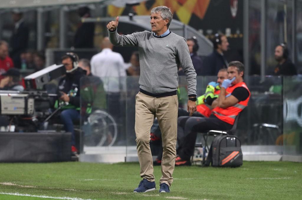 Real Betis coach Enrique Setien