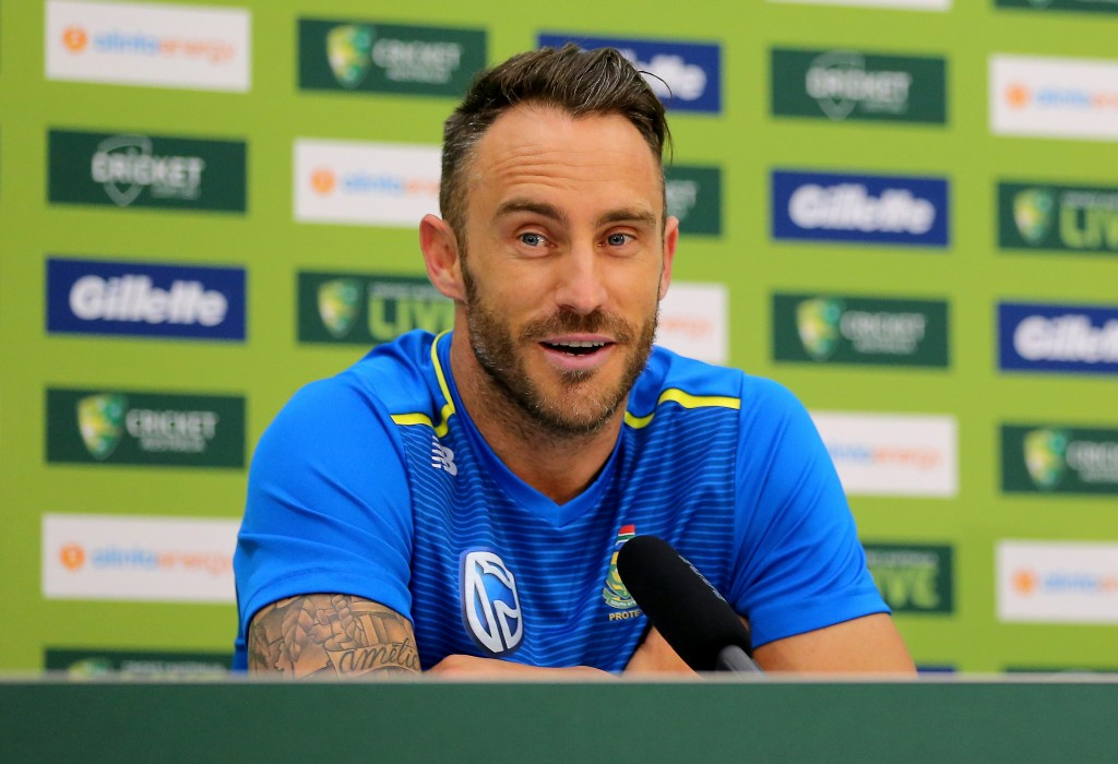 Du Plessis is expecting the sledging to be toned down.