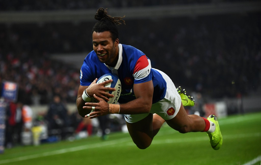 Teddy Thomas was the man of the moment for France against Argentina