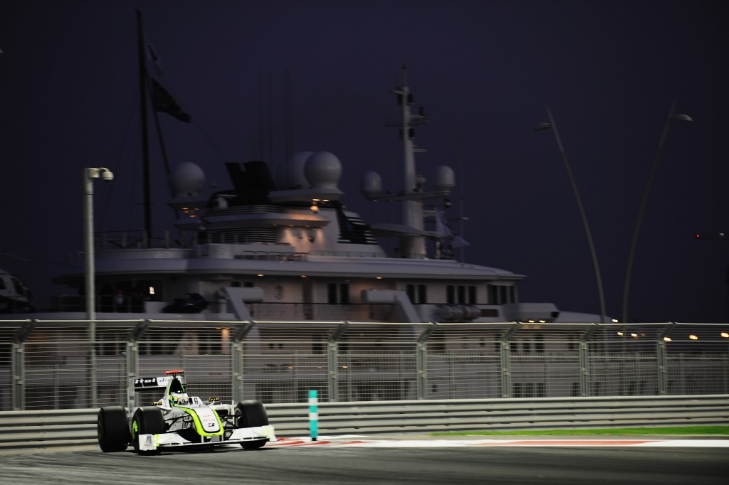 Jenson Button at the Yas Marina circuit.