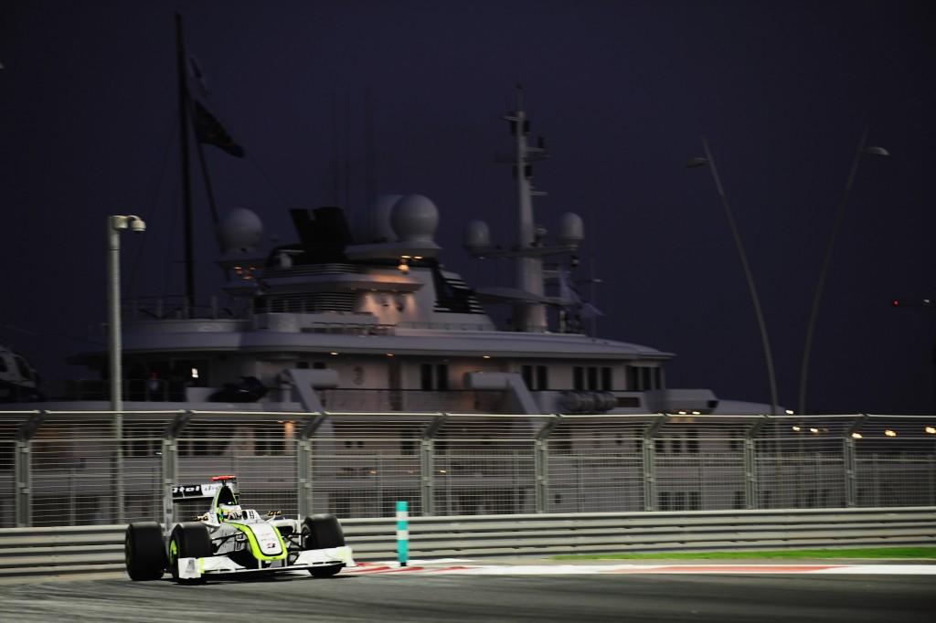 Jenson Button at the Yas Marina circuit.