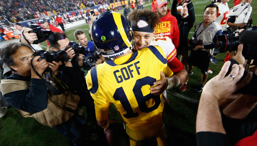 Rams QB Goff and Kansas City starlet Mahomes are the future of the NFL.