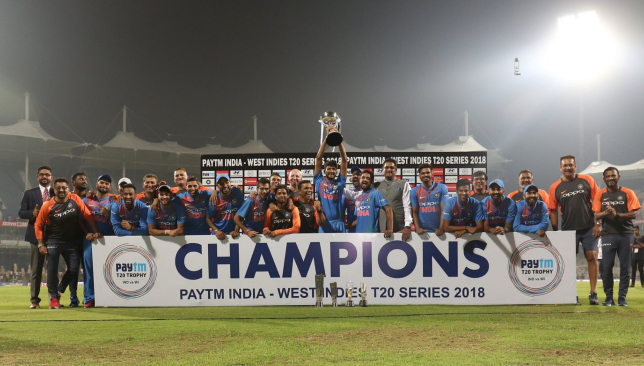 A series clean sweep for Rohit and his men. Image - BCCI/Twitter.