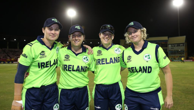 The Joyce sisters (first and second from right). Image - ICC/Twitter.