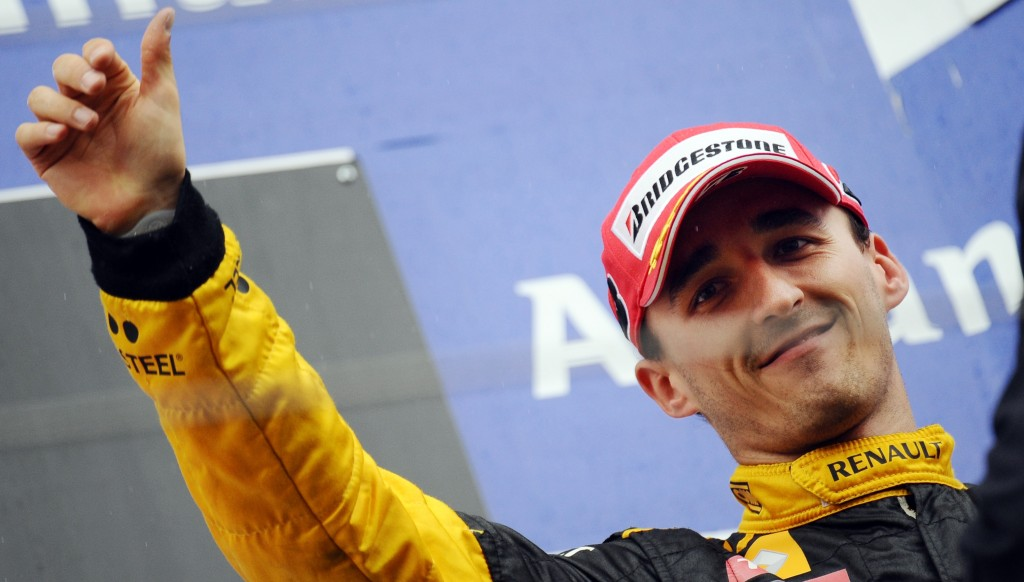 Kubica after finishing third at Spa in 2010.