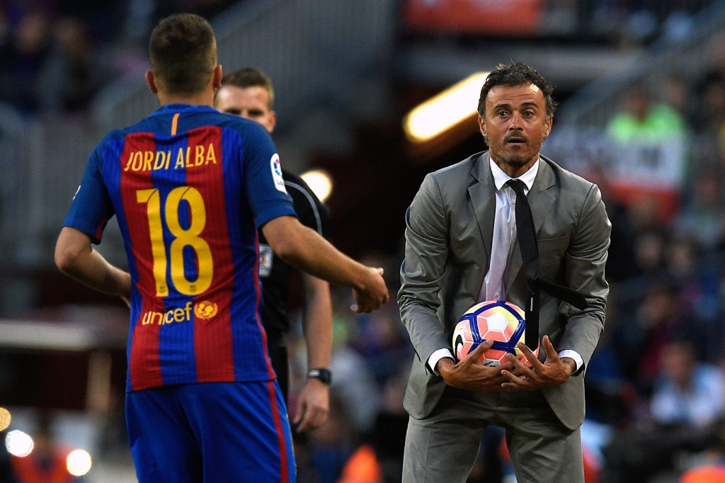 Luis Enrique reportedly fell out with Alba when he was coach of Barcelona.