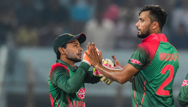 Mortaza (r) will run for elections next month.