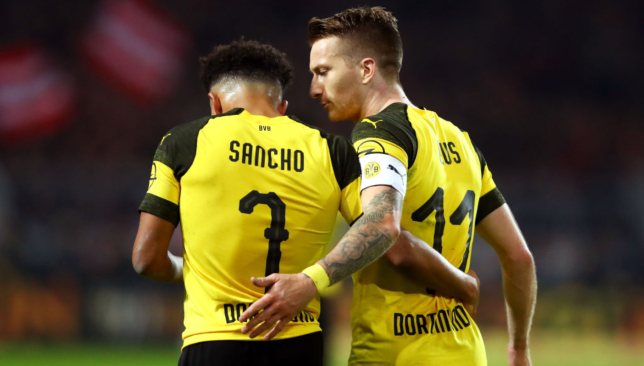 Jadon Sancho and Marco Reus have formed a great partnership