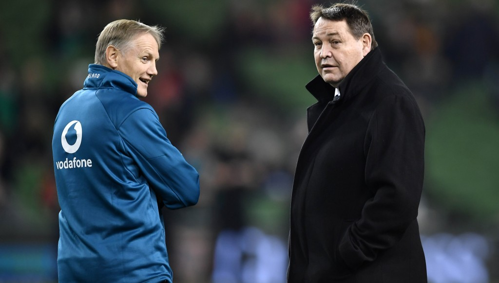 The man with the midas touch: Joe Schmidt (l).