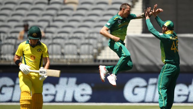 Dale Steyn is on fire for South Africa.