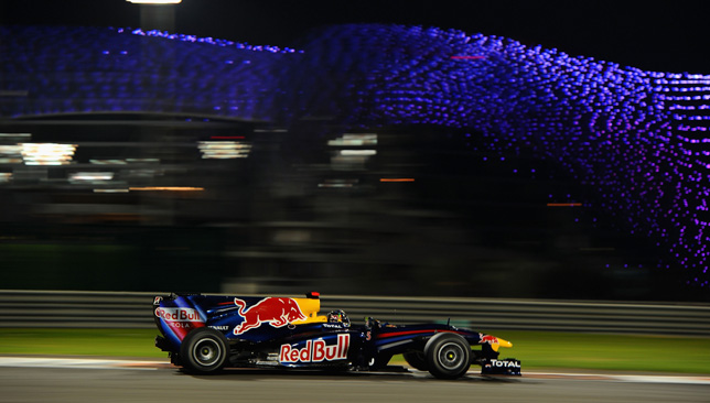 Vettel at the Yas Marina Circuit.