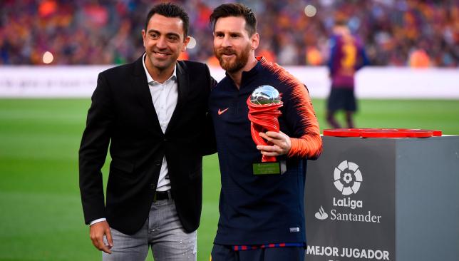 Lionel Messi and Xavi