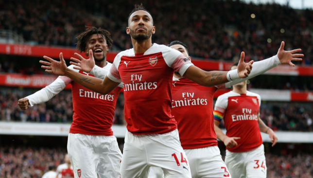 Arsenal stormed to a famous derby win.